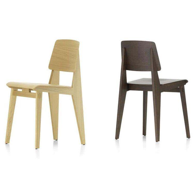 Jean Prouve Chaise Tout Bois Chair In Oak For Vitra Two Enlighten Em 2020