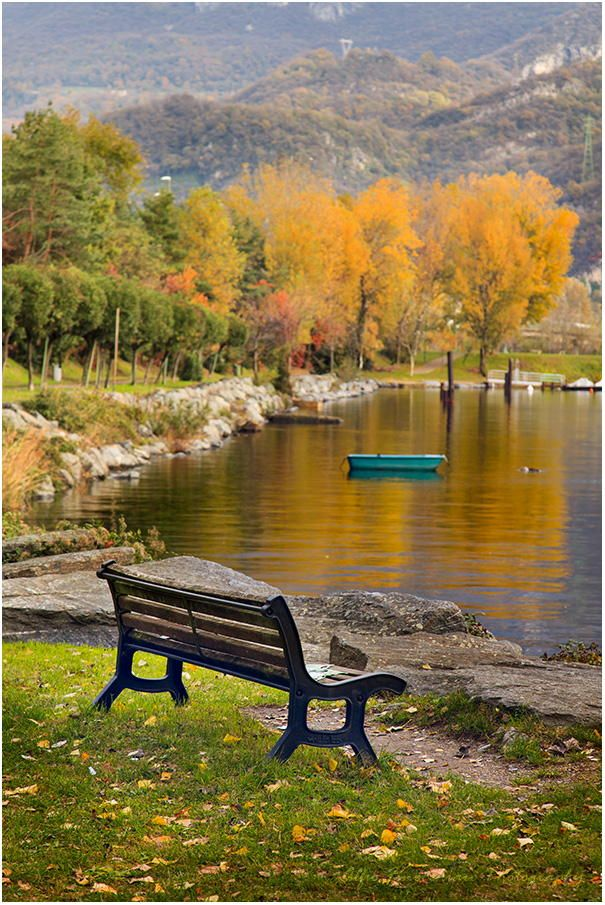 The bench by Alfio Finocchiaro #autumnscenery