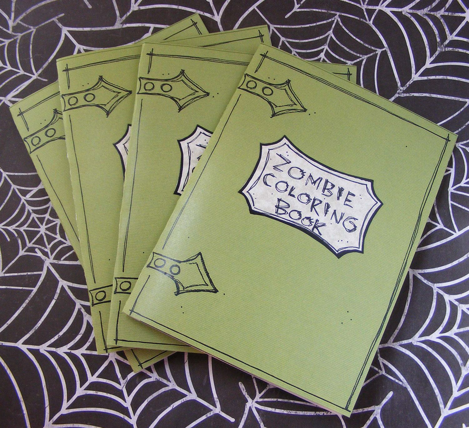 The zombie apocalypse coloring book - Zombie Coloring Book By Partyon On Etsy 4 00