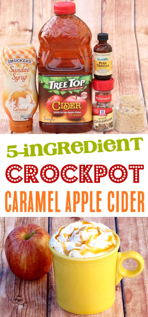 Crockpot Apple Cider Easy Recipe with Caramel!