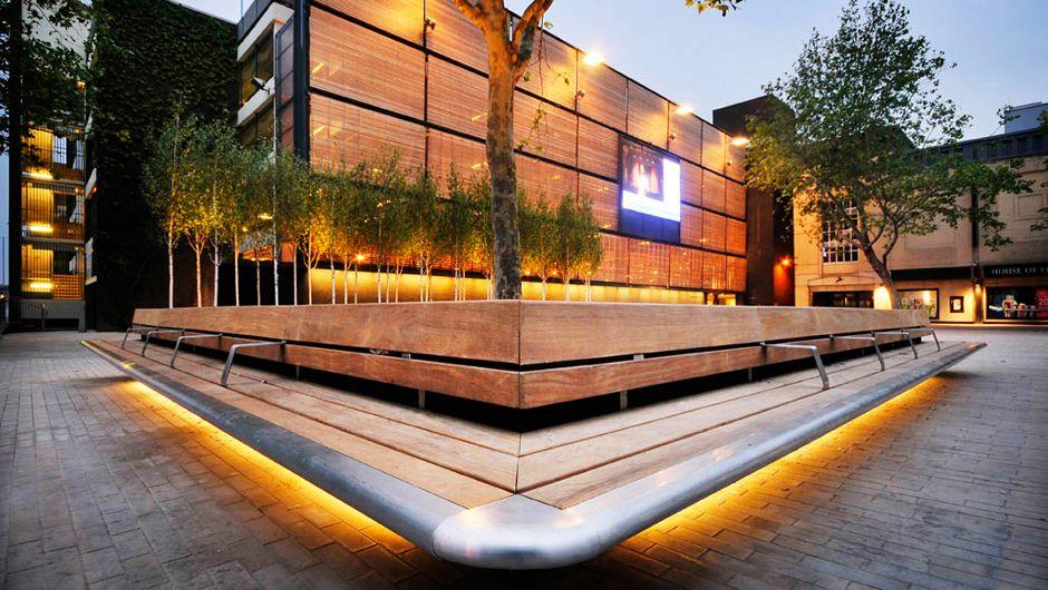 Urban design  Swindon: Wharf Green - Woodscape Street Furniture