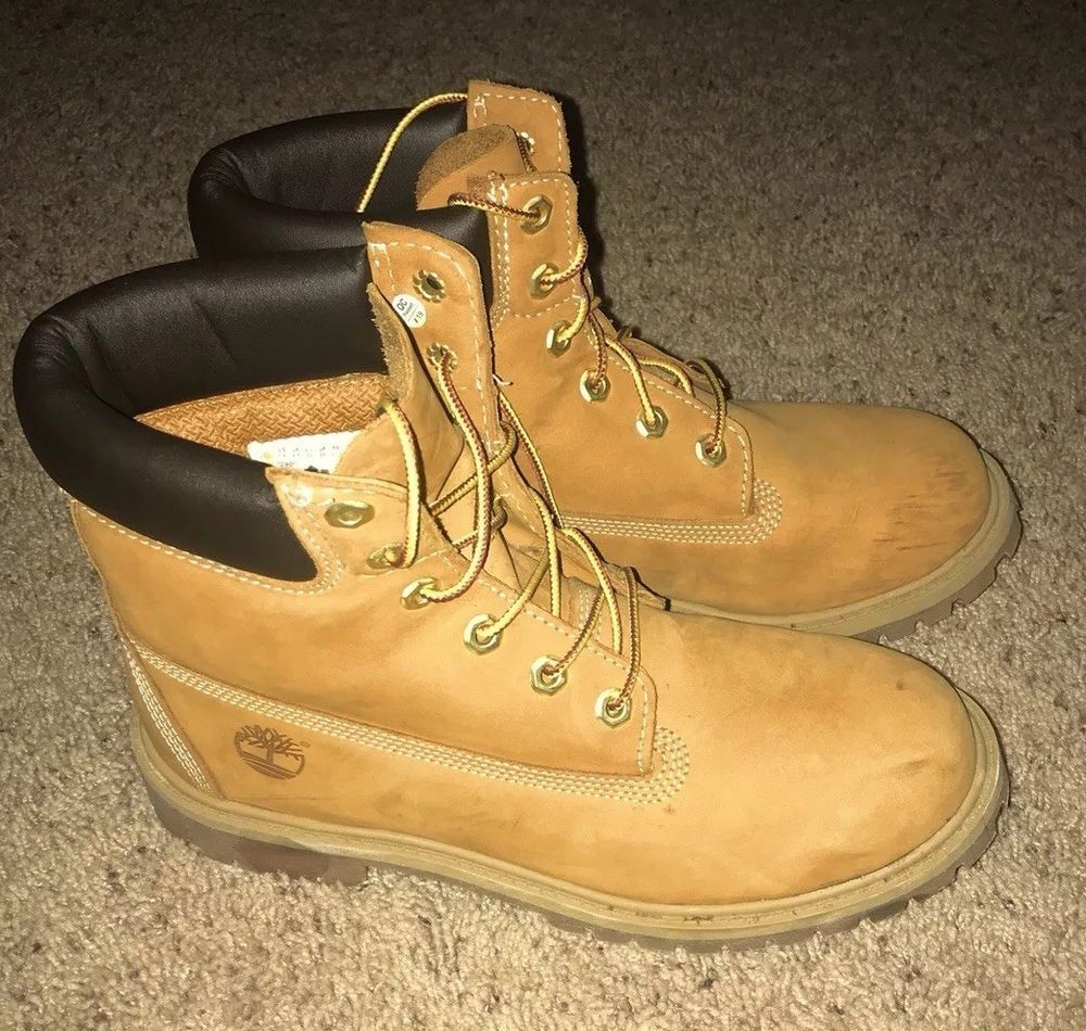 Details about TIMBERLAND BOOTS Mens 13 M Premium WATER PROOF Original Yellow Boots Hiking Work