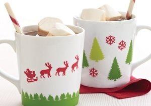 Martha Stewart Christmas Mugs | FaveCrafts.com & Martha Stewart Christmas Mugs | Martha stewart christmas Martha ...
