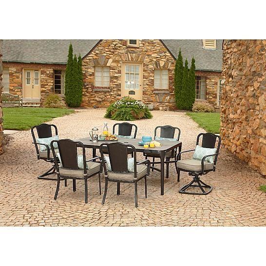 Outdoor Patio Furniture Home Goods: La-Z-Boy Outdoor Lucie 7 Piece Dining Set