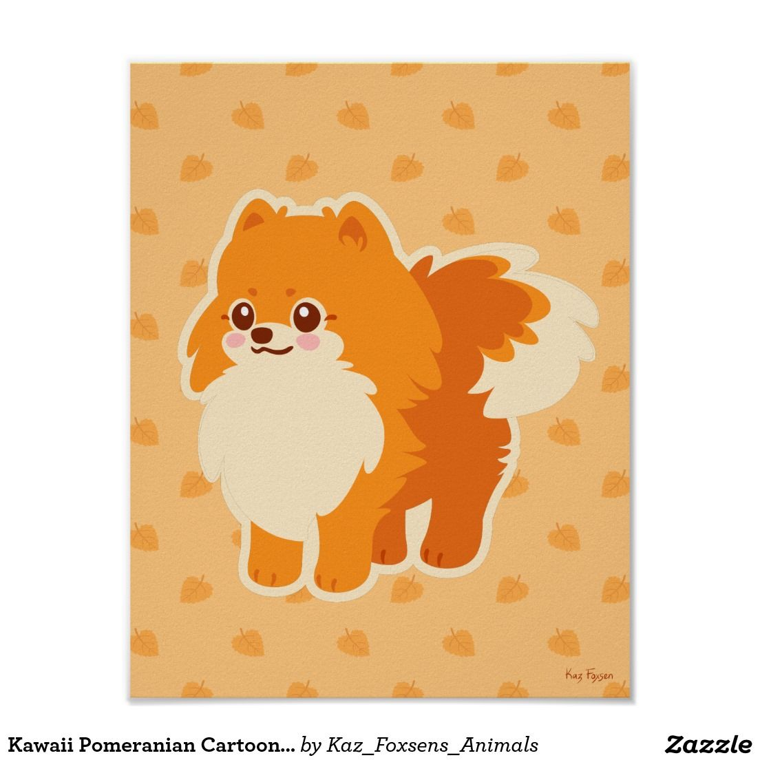 Kawaii Pomeranian Cartoon Dog Poster   Pomeranias   Pinterest   Amor ...