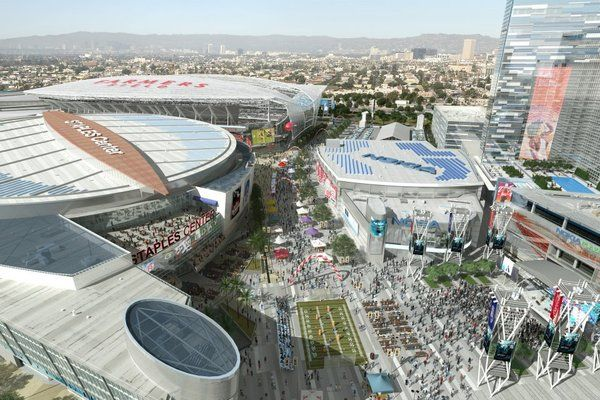 New Renderings Of L A Convention Center Farmers Field L A Live Convention Centre Nfl Stadiums Field