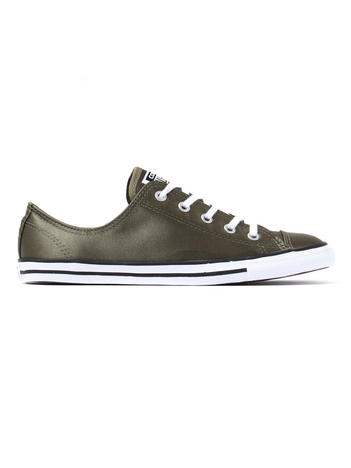 e28d1bab8b4e Converse Women s All Star Dainty OX Canvas Trainers - Olive ...