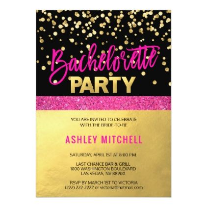 HOT Pink Bachelorette Party Invitations Templates Pink - Bachelorette party invitations templates