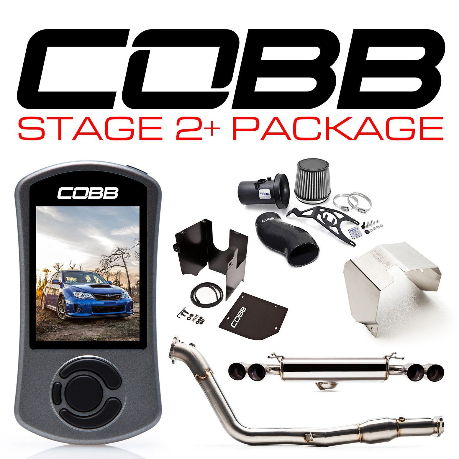 Cobb Tuning Stage 2 Power Package Black Silicone Subaru Sti 08 14 Hatcback Cobb Tuning Subaru Sti 2014 Subaru Wrx Sti