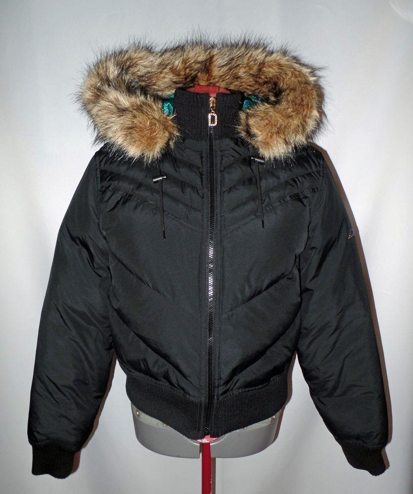 Dkny Active Womens Puffer Down Coat Jacket Faux Fur Hood Size L Black Winter Women S Puffer Faux Fur Hood Faux Fur Jacket [ 1000 x 836 Pixel ]