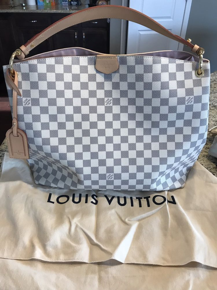 186701e875b Louis Vuitton Graceful MM Damier Azur #purses #fashion | Designer ...