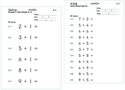 Kumon Kumon De Matemticas Kumon Pinterest Math Math