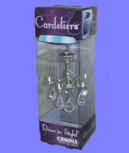 Decorative Mini Chandelier Cardelier Silver Rear View Mirror Auto Ornament