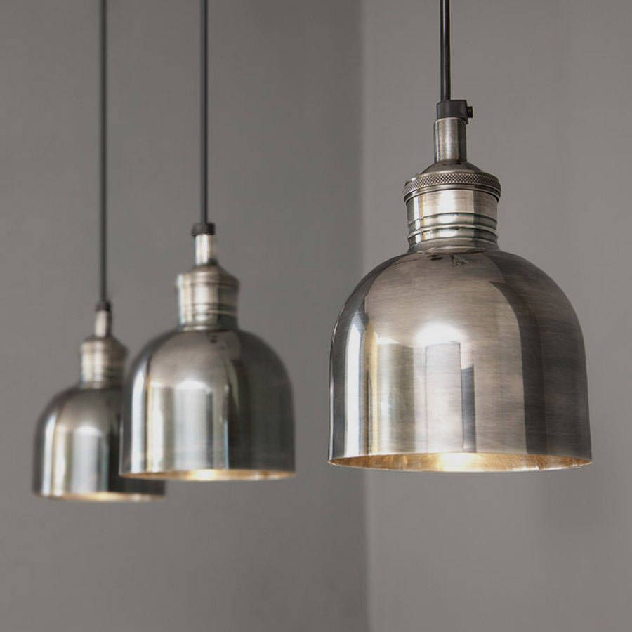 Industrial Style Kitchen Pendant Lights Flori Tarnished Silver Pendant Light Ceiling Rose Silver