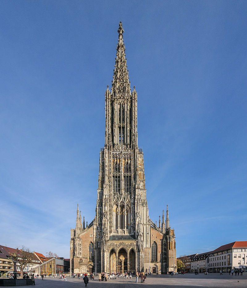 Germany Ulmer Münster Ab 1377 Mit Dem Höchsten Kirchturm Der Welt