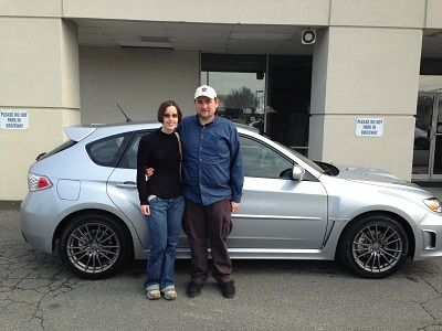 The Huttons With Their New 2013 Subaru Impreza Wrx 5 Door Sold By