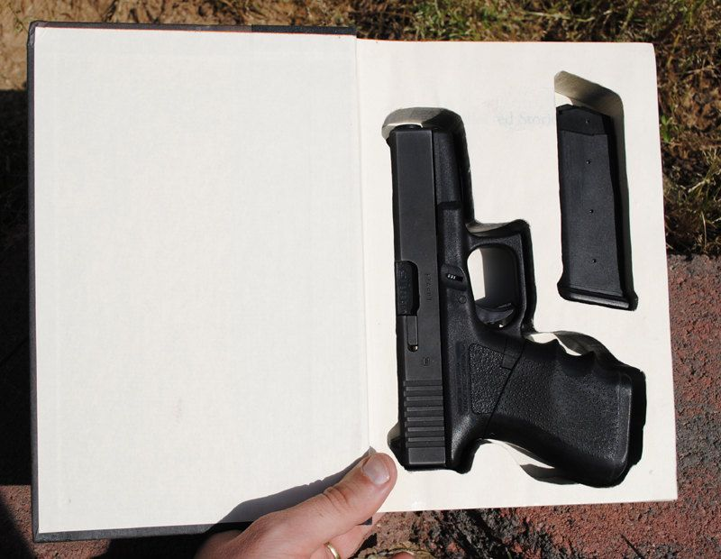 Hollow Book Safe - Gun Storage for a Glock 19 - Hollow Secret Book ...