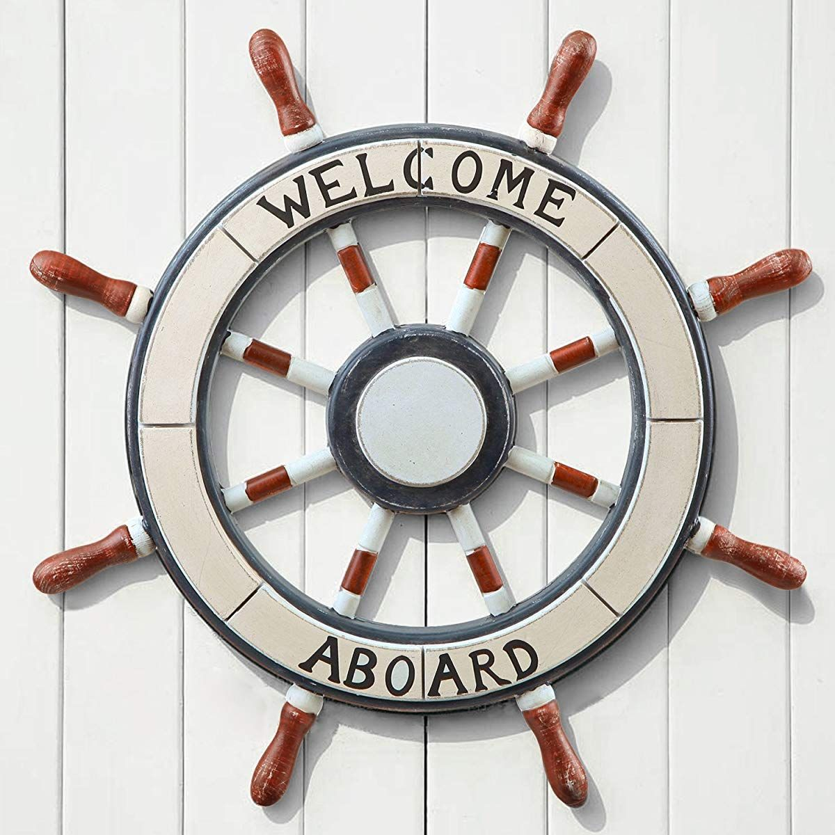 Wooden Boat Anchor With Crossbar Boat Anchor Wooden Boats Wheel Decor