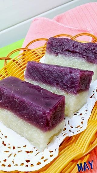 Singapore Home Cooks Purple Sweet Potato Glutinous Rice Cake By May Cho No Cook Desserts Dessert Recipes Food