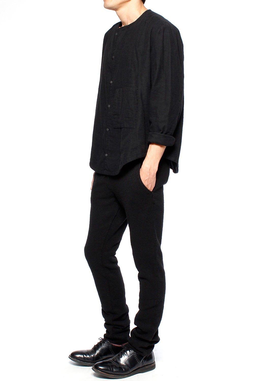 Flannel shirt black and grey  Assembly New York Big Pocket Shirt  Black Flannel  mens gear
