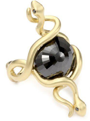Black diamond snakes ring.