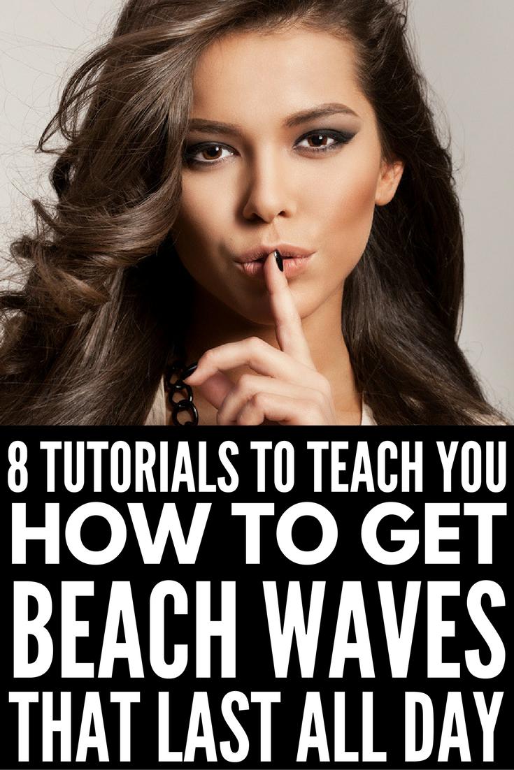 How To Get Perfect Beach Waves Loose Curls Medium Length Hair Curls For Medium Length Hair Beach Waves Medium Hair