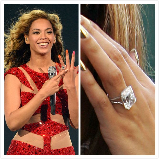 Pin By Lisa Christopher On Accessories Celebrity Jewelry Beyonce Engagement Ring Celebrities