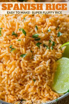 Easy Spanish Rice, also called Mexican Rice, that tastes just like your favorite restaurant side dish with with an easy trick for perfectly fluffy rice! | #spanishrice #mexicanrice #mexicanfood #mexicanrecipes #dinnerthendessert #sidedish #rice #easyrecipes #tacosidedishes