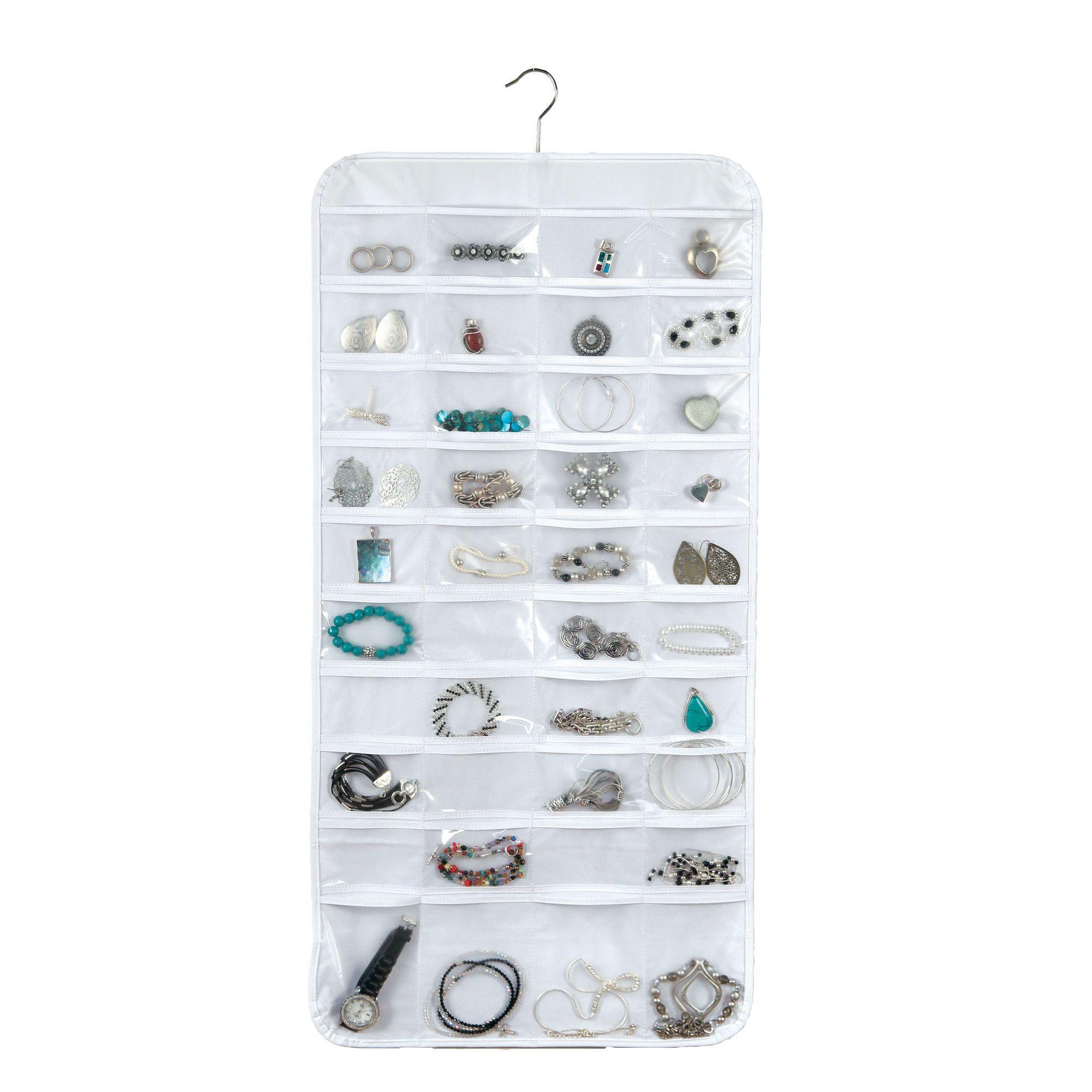 Richards Homewares 80 Pocket Wall Mount Jewelry Holder Bracelets