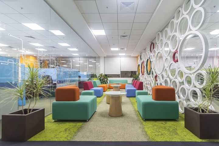 Maxim integrated corporate office by zyeta interiors for Modern corporate office design