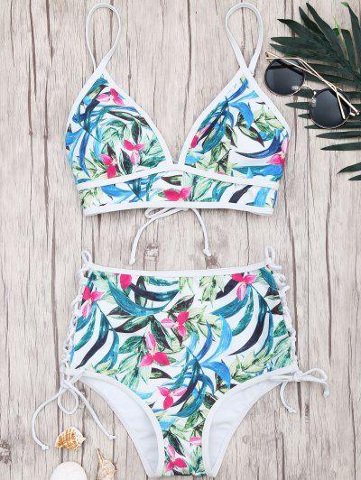 Lacets 2019Danse Bikini En Haute Imprimé Feuille Taille À droWECxBeQ