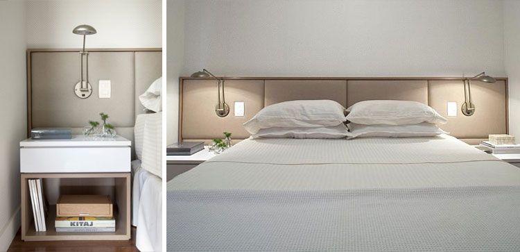 Cabecero Tapizado Con Apliques Integrados Para El Dormitorio Dormitorios Dormitorios Principales Mesitas De Noche