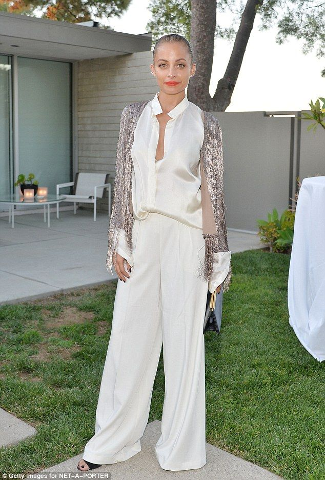 Nicole Richie sparkles in fringe sweater at Rachel Zoe fashion event | Daily Mail Online