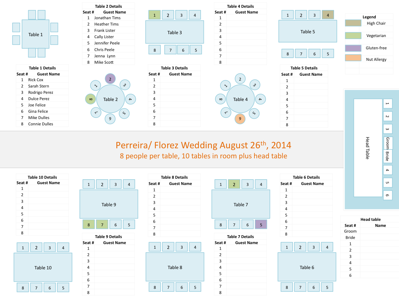 Wedding seating chart template also reception pinterest rh