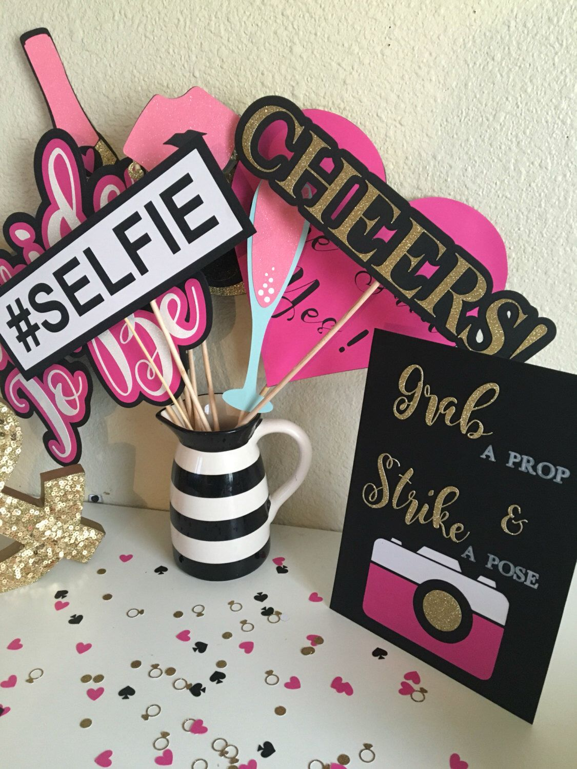 bridal shower photo booth props photo booth props kate spade inspired bridal