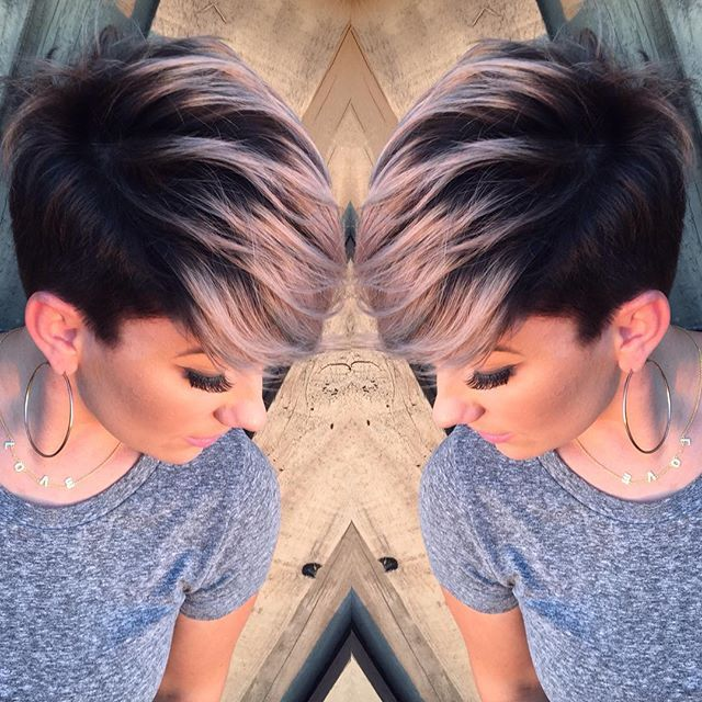 Lena On Instagram Finally My Turn For Some Hair Lovin Used Goldwell 4nn And 4bp For The Base And Sli Short Hair Styles Pixie Short Hair Styles Hair Styles