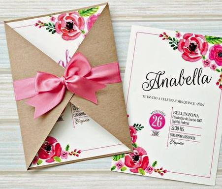 Invitaciones De Xv Años Concepto En Letra Invitaciones