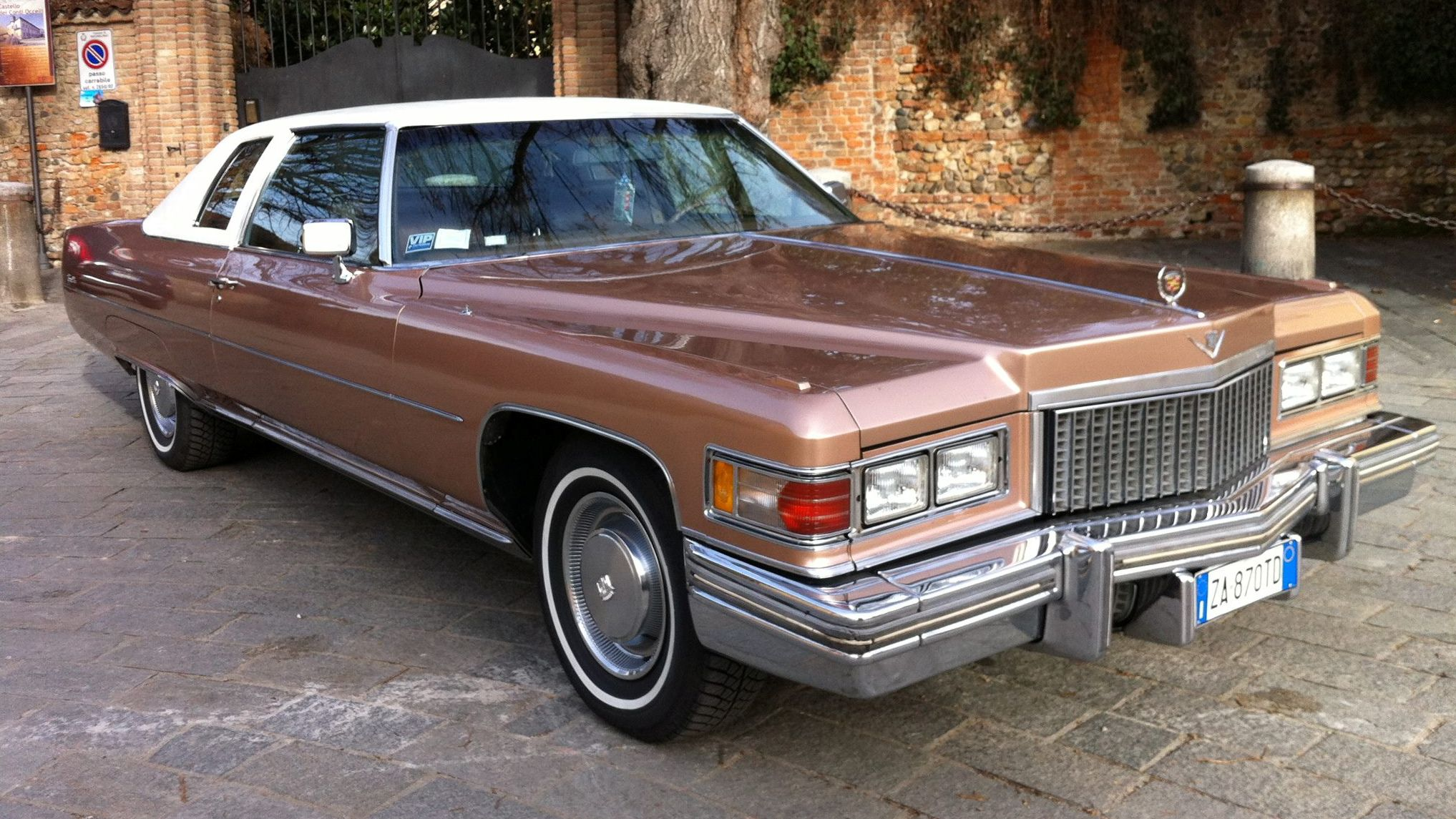 1975 cadillac coupe deville w euro spec turn signals finished in cameo rosewood
