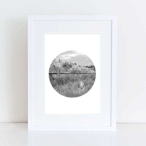 Mountain print mountain photography black white print circle print circle wall