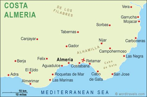 Costa Almeria Spain Country Maps Travel Maps Almeria
