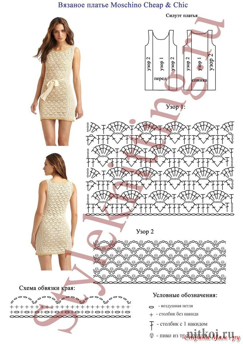 crochet dress by Moschino Cheap & Chic | crochet | Pinterest ...