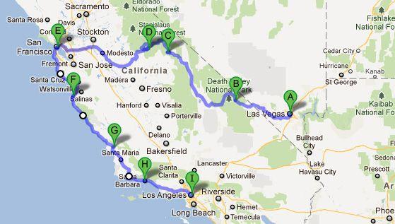 Como Combinar San Francisco Los Angeles Las Vegas Yosemite E Grand Canyon Na Mesma Viagem Viaje Na Viagem Las Vegas Grand Canyon California