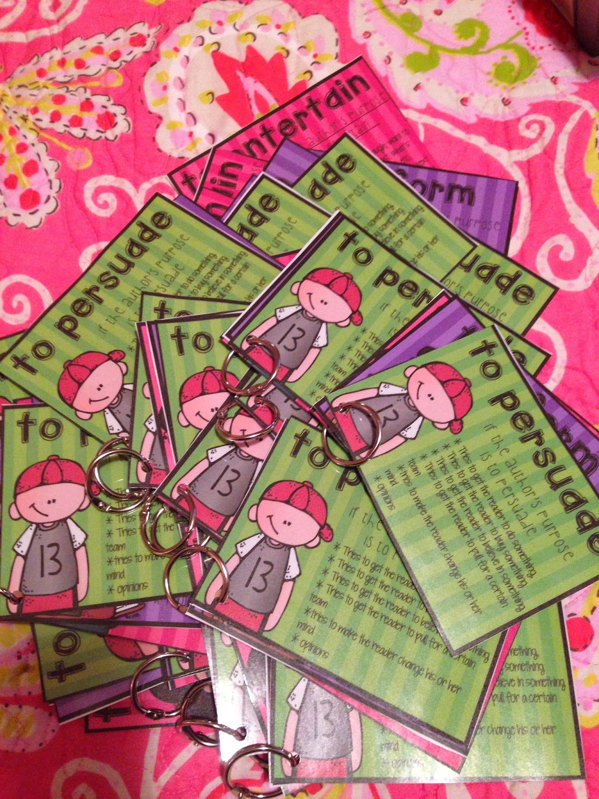 Author S Purpose Reference Cards Freebie Life In Fifth