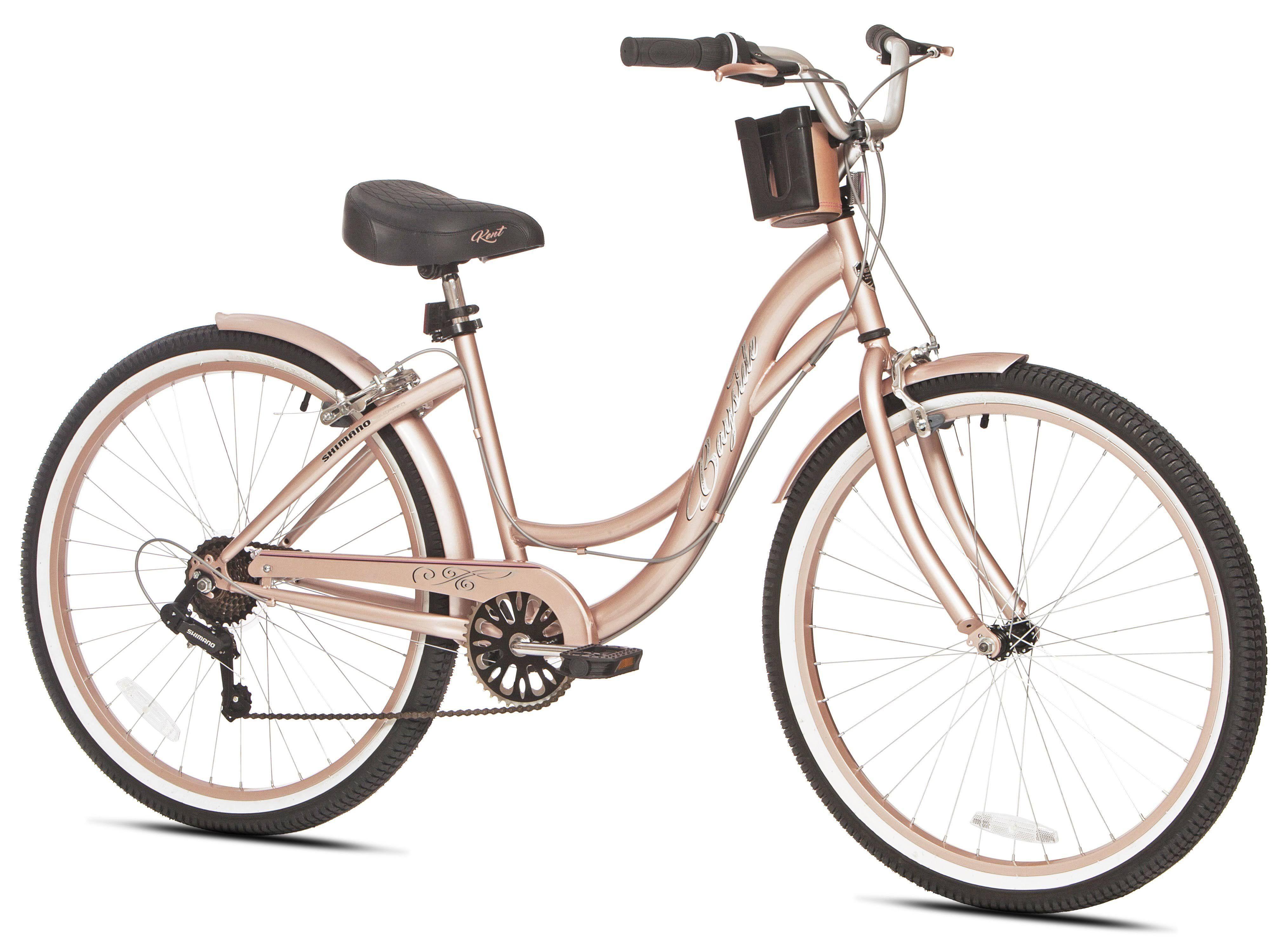 Kent 26 Bayside Cruiser Women S Bike Rose Gold In 2020 Womens Bike Mountain Bike Accessories Mountain Bike Shoes