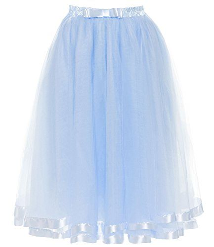 DYS Women's Tulle Skirt Petticoat Slip Crinoline Underski