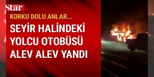Korlu dolu anlar... Seyir halindeki yolcu otobüsü alev alev yandı : Ankarada seyir halindeki yolcu otobüsü alevler içinde kaldı. Yangını fark ederek camlardan atlayan 5 kişi yaralandı.  http://ift.tt/2dkN9GV #Türkiye   #otobüsü #alev #halin #yolcu #ederek