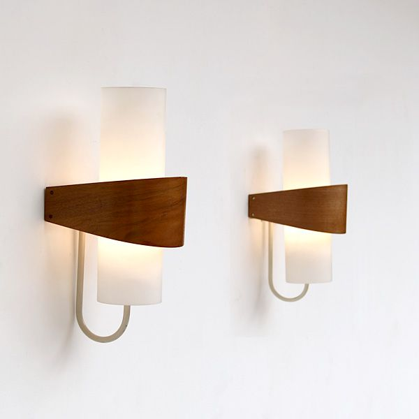 A pair of modern wall lights made by philips circa 1958 white pair of modern philips wall lights city furniture aloadofball Image collections