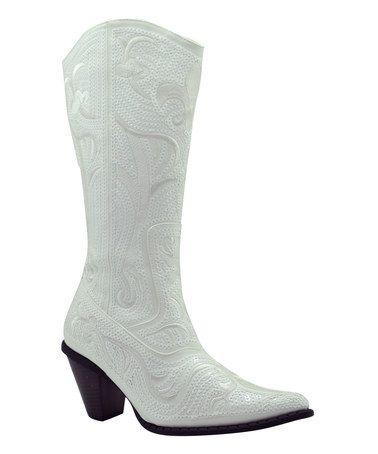 White Sequin Cowboy Boot   Cowboy boots