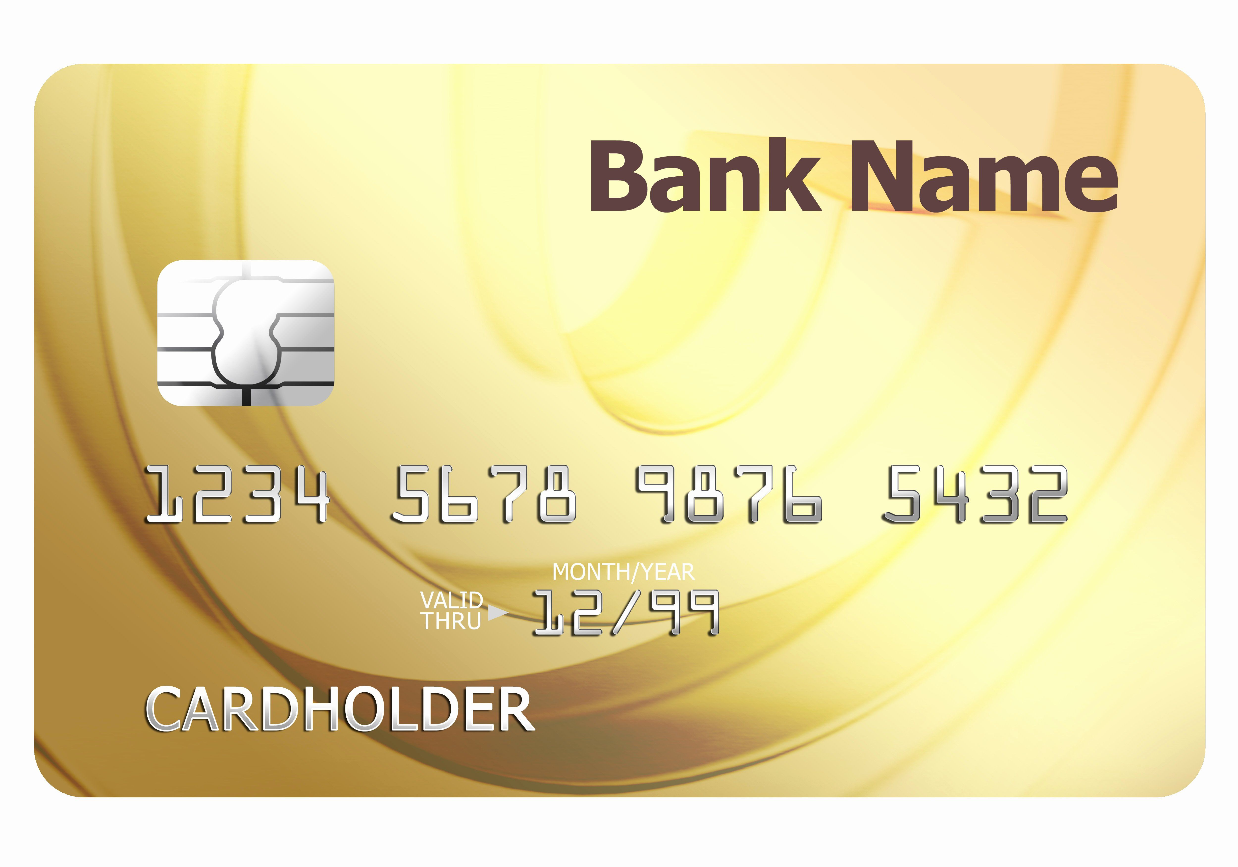 Blank Credit Card Template Elegant Credit Card Template Credit Card Design Credit Card Statement Gold Credit Card