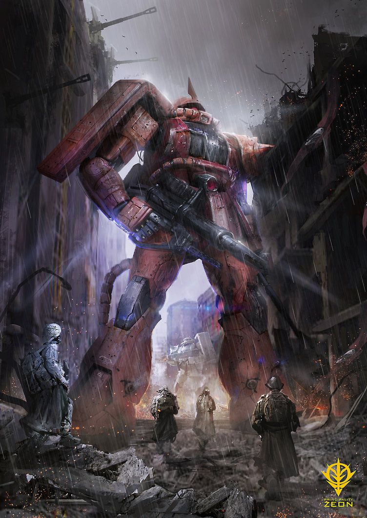 One Year War Char Zaku Gundam Wallpapers Gundam Art Art